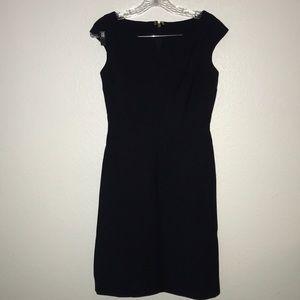 Tory Burch dress sheath blue lined size 2